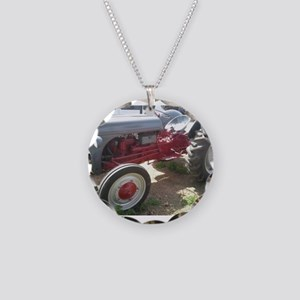 Old Grey Farm Tractor Necklace
