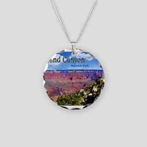 Grand Canyon NAtional Park P Necklace Circle Charm