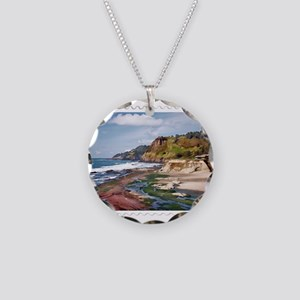 Gorgeous Coast of Oregon Sta Necklace Circle Charm