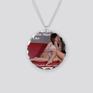 Girls Know What Girls Like Necklace Circle Charm