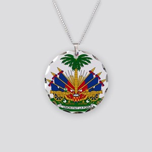 Coat of arms of Haiti - Embl Necklace Circle Charm