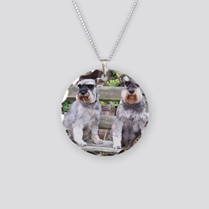 2 miniature schnauzers Necklace