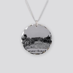 Promontory Point Utah Necklace Circle Charm