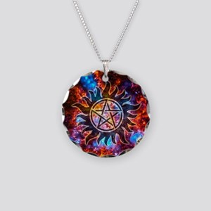 Supernatural Cosmos Necklace Circle Charm