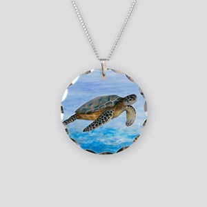 Turtle 1 Necklace Circle Charm