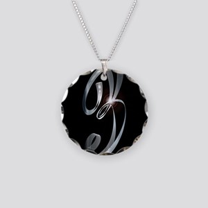 Silver Number Three Necklace Circle Charm