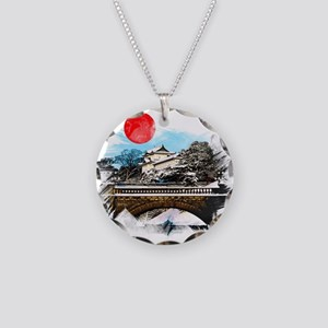Japanese Palace Necklace Circle Charm