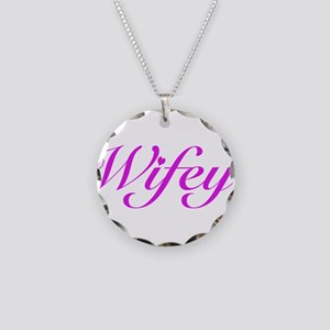 Wifey Necklace Circle Charm