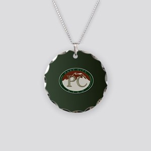 Park City Logo Medallion on Necklace Circle Charm