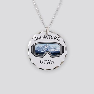 Snowbird - Snowbird - Utah Necklace Circle Charm