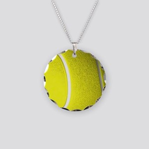 Tennis Ball Necklace Circle Charm