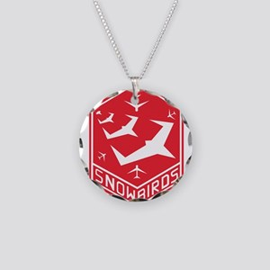 snow_bird_aerobatic Necklace Circle Charm