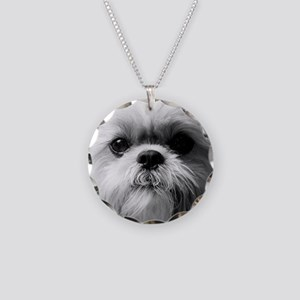 Shih Tzu Photo Necklace Circle Charm