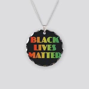Black Lives Matter Necklace Circle Charm