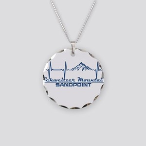 Schweitzer Mountain - Sand Necklace Circle Charm