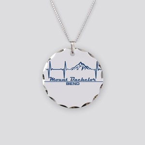 Mount Bachelor - Bend - Or Necklace Circle Charm