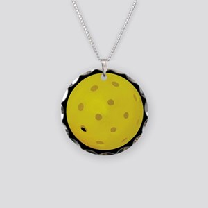Pickleball Ball Necklace Circle Charm