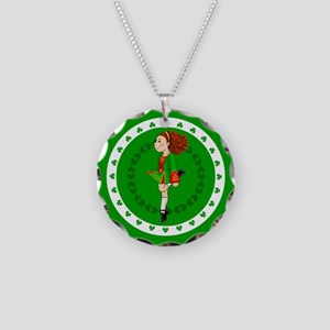 Irish Dancing Necklace Circle Charm