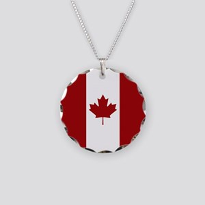Canada: Canadian Flag (Red & Necklace Circle Charm