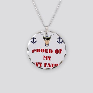 Proud Of My Navy Father Necklace Circle Charm