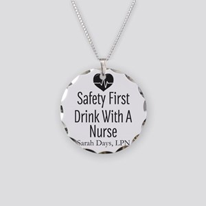 Drink with a Nurse Personalized Necklace