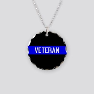 Police: Veteran & The Thin B Necklace Circle Charm