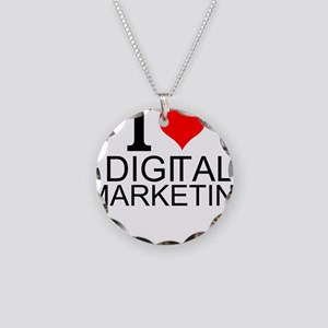 I Love Digital Marketing Necklace