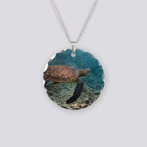 SEA TURTLE 3 Necklace Circle Charm