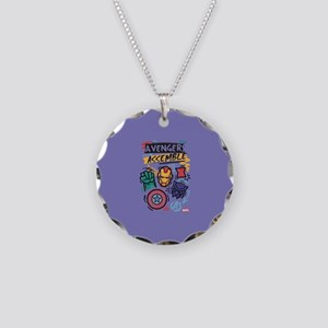 Avengers Assemble Necklace Circle Charm