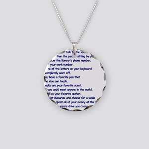 Clues You May Be a Writer Necklace Circle Charm