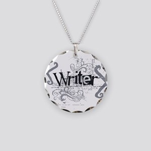 Grunge Writer Necklace Circle Charm
