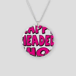 Nappy Headed Ho Pink Design Necklace Circle Charm