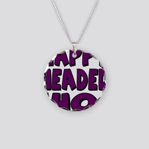 Nappy Headed Ho Purple Design Necklace Circle Char