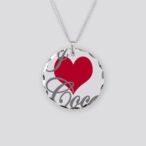I love (heart) Coco Necklace Circle Charm