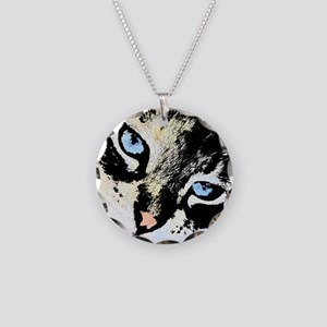 Ink Cat Necklace Circle Charm