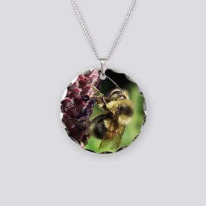 Bumblebee Necklace Circle Charm