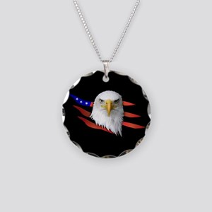 American Eagle Necklace Circle Charm