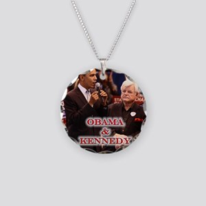 Obama & Kennedy Necklace Circle Charm
