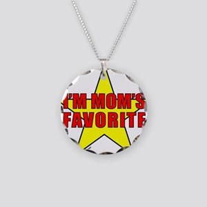 I'M MOM'S FAVORITE Necklace Circle Charm