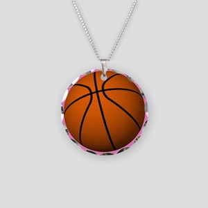 Basketball Mom Necklace Circle Charm
