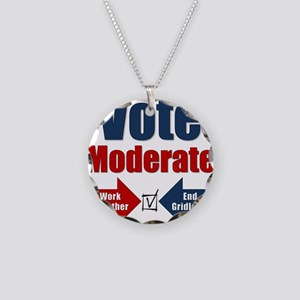 Vote Moderate Necklace Circle Charm