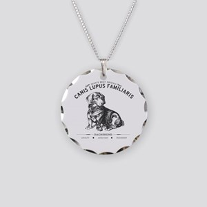 Vintage Dachshund Necklace Circle Charm
