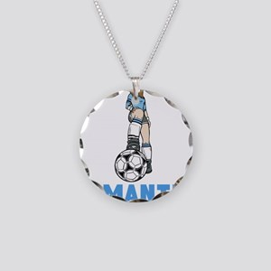 Personalized Soccer Necklace Circle Charm