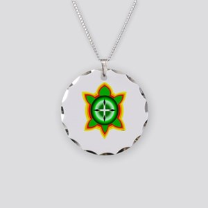 SOUTHEASTERN TRIBAL TURTLE Necklace Circle Charm