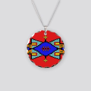 Lakota Dreams Blanket Design Necklace Circle Charm