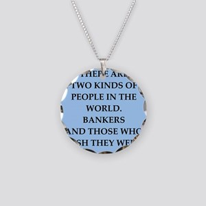 banker Necklace Circle Charm