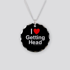 Getting Head Necklace Circle Charm