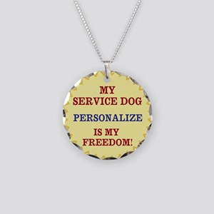 MY SERVICE DOG -PERSONALIZE Necklace