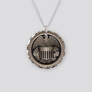 The Federal Reserve Necklace Circle Charm