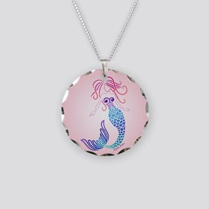 Mermaid Musings Necklace Circle Charm